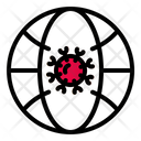 Virus Earth Lock Down Icon