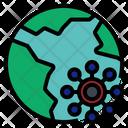 Virus Spread In World Icon