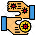 Virus Spread With On Hands Icon