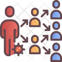 Spread People Infection Icon