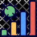 Virus Spreading Graph Icon