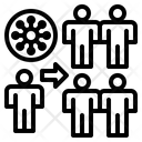Virus Spreading In Crowd Icon