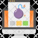 Virus Attack Bug Icon