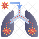 Transmission Lungs Virus Icon