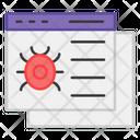 Bug Website Virus Website Malicious Website Icon