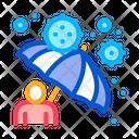 Viruses Protection Umbrella Protection Protective Icon