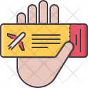 Hand Airplane Ticket Icon