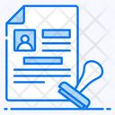 Visa Document Endorsement Icon