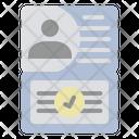 Visa Identification Immigration Icon