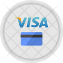 Visa Round Payment Icon