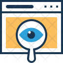 Visibility Magnifier Monitoring Icon