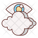 Visibility Cloud Data Icon