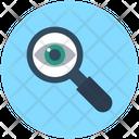 Eye Magnifying Glass Exploration Icon