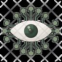 Mechanical Eye Cyber Eye Cyber Security Concept Icon