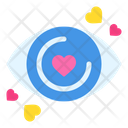 Vision Eye Love Heart Icon