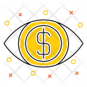 Vision Eye Money Icon