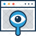 Vision Monitoring Magnifier Icon