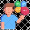 Visual Infographics Icon