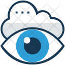 Visual Monitoring Cloud Icon