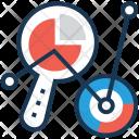 Visualization Magnifier Pie Icon