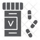 Vitamin Bottle Health Icon