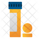 Vitamin Bottle Medicine Icon