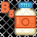 Icon Tablets Jar Vitamin B Medicne Health Icon