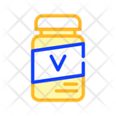 Vitamin Bottle Cat Icon