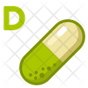 Icon Vitamin D Medicne Health Icon