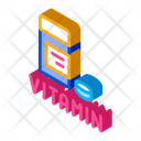 Vitamin Pills Package Icon