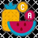 Vitamins Nutrition Fruit Icon