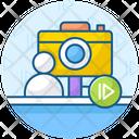 Vlog Photography Videography Icon