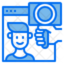 Website Influencer Vlog Icon