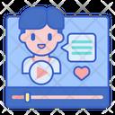 Vlogger User Youtuber Icon
