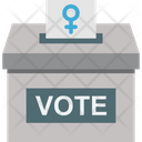 Ballot Elections Feminism Icon