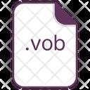 Vob File Document Icon