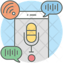Voice Control Voice Note Mobile Recorder Icon