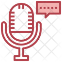 Voice Recognition Recording Communications Icon
