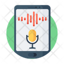 Voice Recognition App Mobile App Smartphone App Icon