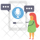 Mobile Microphone Voice Recorder Phone Voice Recorder Icon