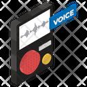 Mobile Recorder Voice Recorder Sound Recorder Icon