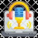 Voice Recording Podcast Record Icon
