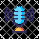 Podcast Microphone Recording Icon
