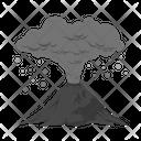 Volcanic ash Icon