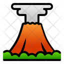 Volcano Mountain Landscape Icon