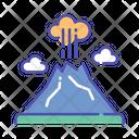 Volcano Danger Eruption Icon