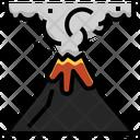 Volcano Eruption Explosion Icon