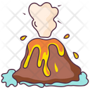 Volcano Lava Disaster Icon