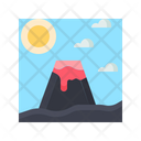 Volcano Landscape Mountain Icon