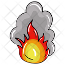 Volcano Natural Disaster Fire Eruption Icon
